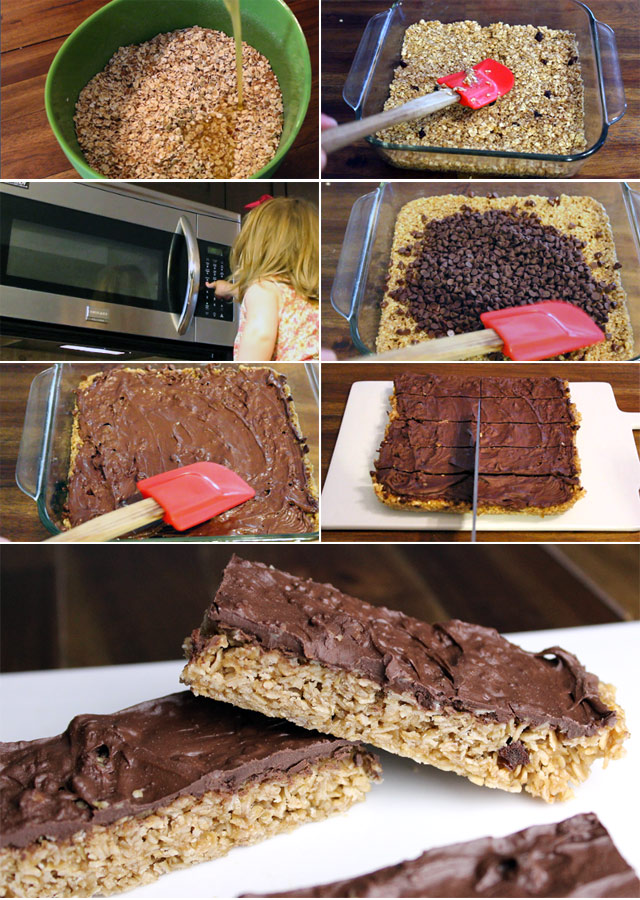 Chewy Granola Bars In The Microwave: Step By Step
