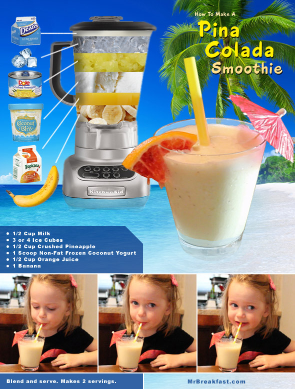 How To Make A Pina Colada Smoothie