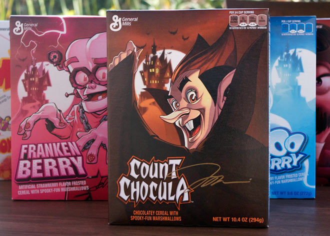 2014 Count Chocula Cereal Box