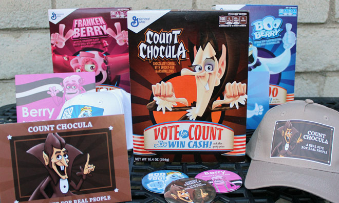 2016 Count Chocula Cereal Box