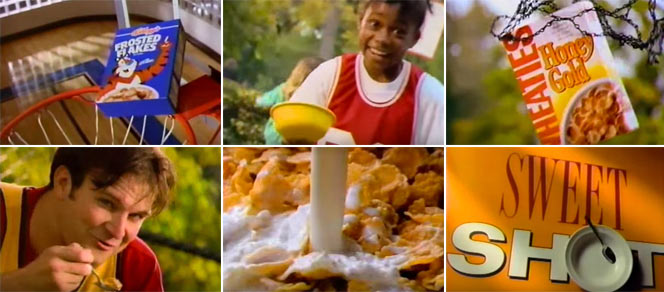 Wheaties Honey Gold Basketball Commercial Screen Grabs