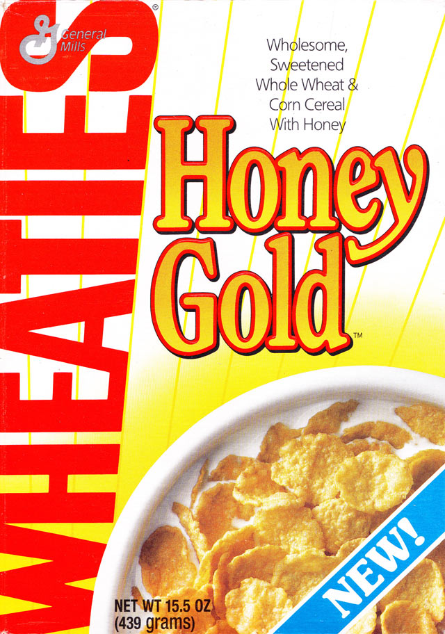 Wheaties Honey Gold Cereal Box (Front)