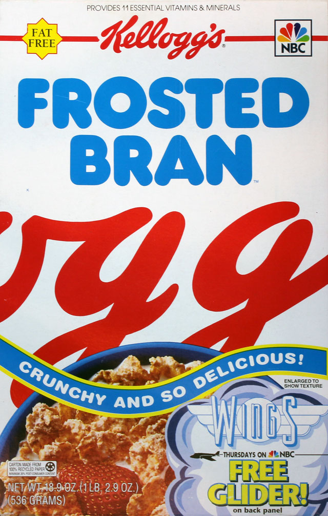 Kellogg's Frosted Bran Cereal Box (Front)