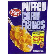 Puffed Corn Flakes