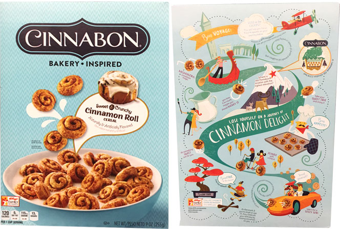 Cinnabon Cereal Box From 2017