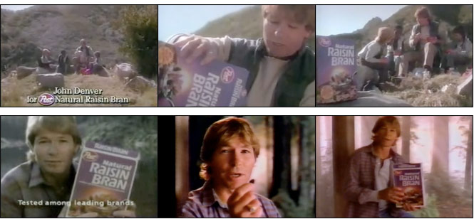 John Denver Post Natural Raisin Bran Commercials