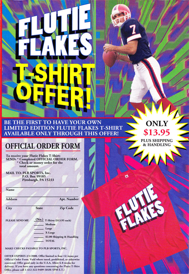 Flutie Flakes Cereal Box (Back)
