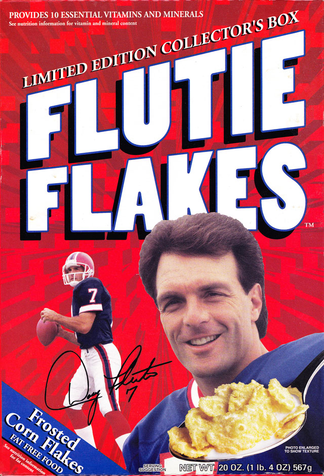 Flutie Flakes Cereal Box (Front)