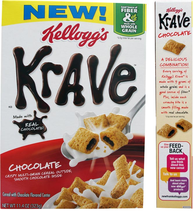 Chocolate Krave Cereal Box From 2012