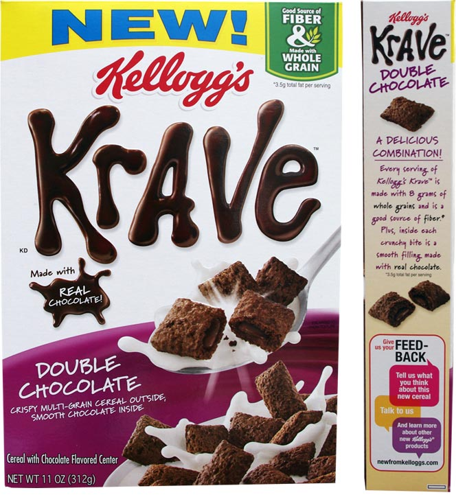 Double Chocolate Krave Cereal Box From 2012