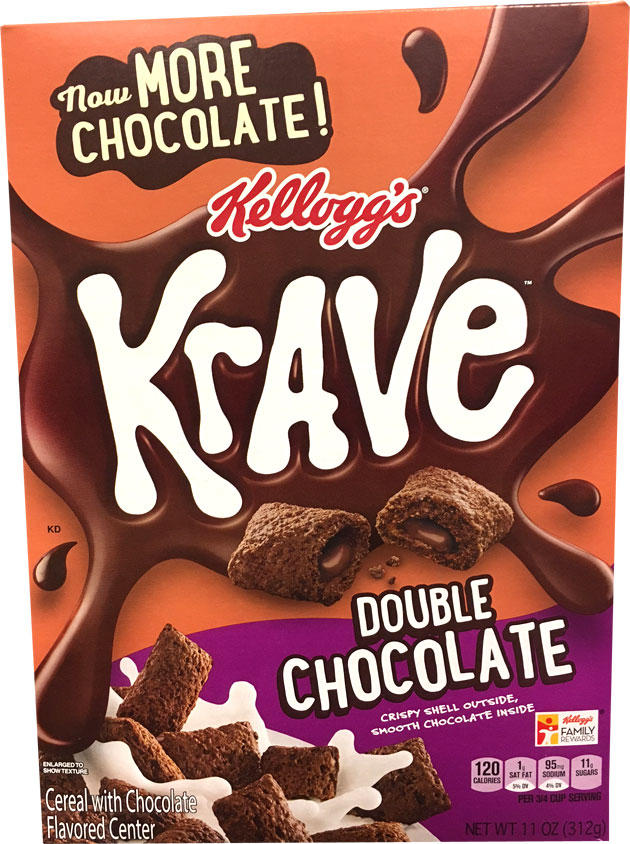 Double Chocolate Krave Cereal Box From 2017