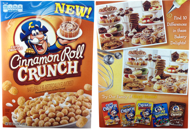 Cinnamon Roll Crunch 2012 Cereal Box