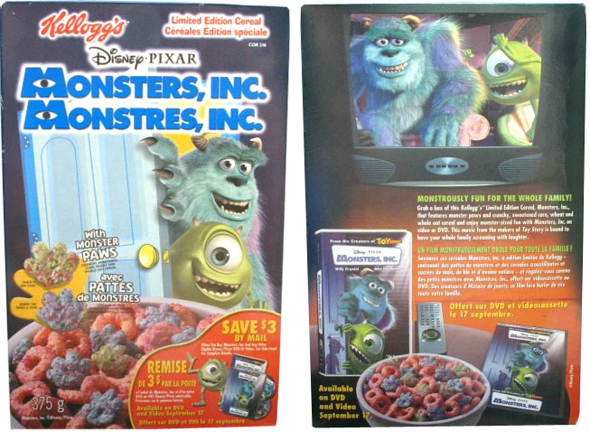 2004 Monsters, Inc. Cereal Box