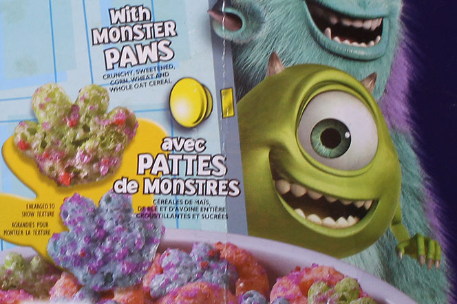 Monsters, Inc. Cereal Pieces