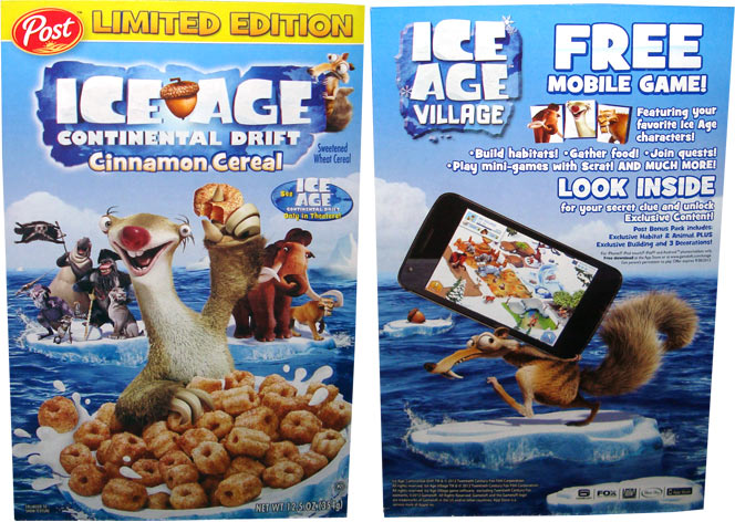 Ice Age: Continental Drift Cereal