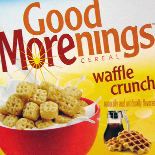 Good Morenings: Waffle Crunch Cereal