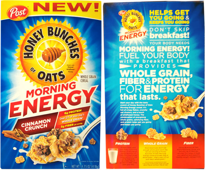 Honey Bunches of Oats Cinnamon Crunch Morning Energy cereal