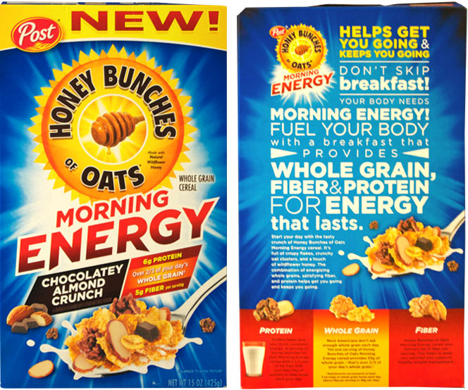 Honey Bunches of Oats Chocolatey Almond Crunch Morning Energy cereal