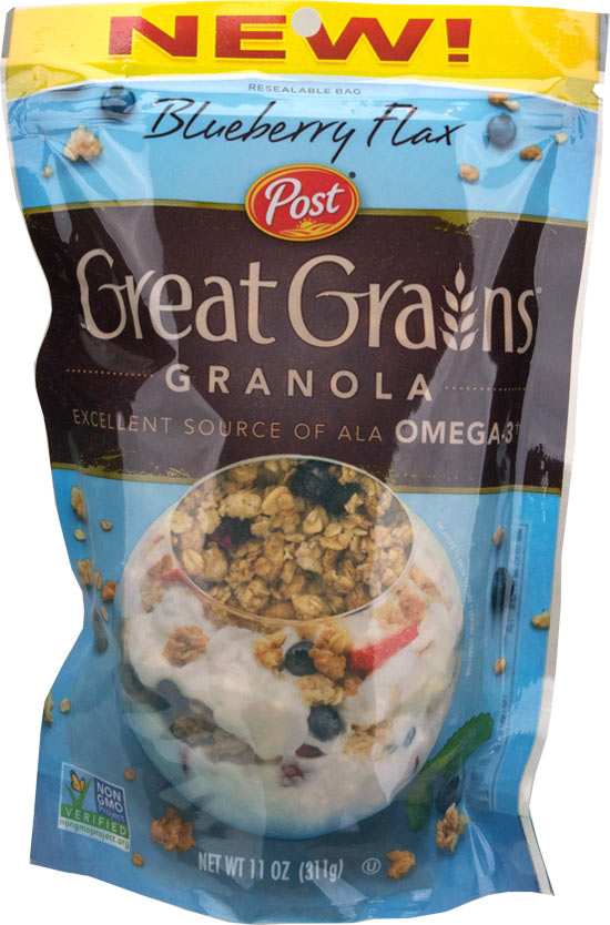 Blueberry Flax Great Grains Granola Cereal Profile