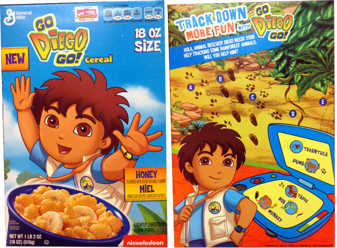 Go Diego Go! Cereal Profile