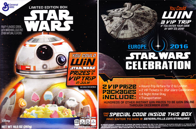 2015 Star Wars Cereal Featuring BB-8