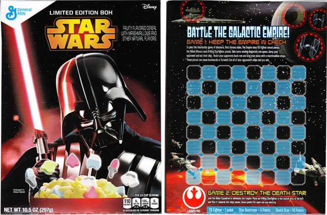2015 Star Wars Cereal Featuring Darth Vader