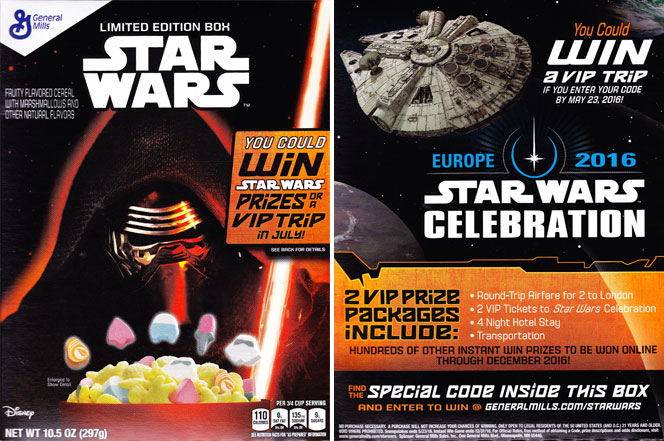 2015 Star Wars Cereal Featuring Kylo Ren