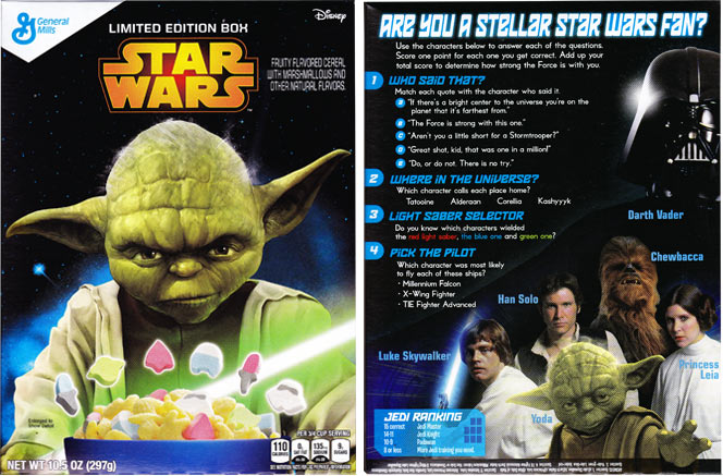 2015 Star Wars Cereal Featuring Yoda