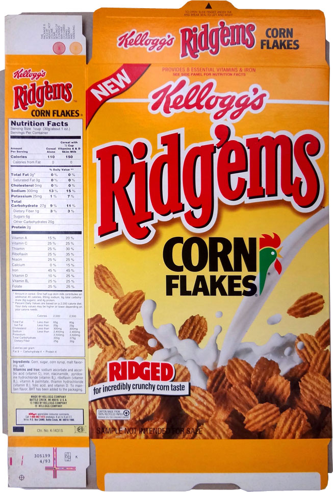 Ridg'ems Corn Flakes Cereal Profile