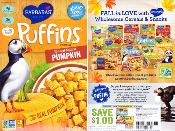 Pumpkin Puffins Cereal Profile