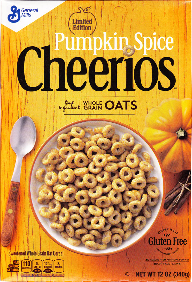 Pumpkin Spice Cheerios Cereal Box (Front)