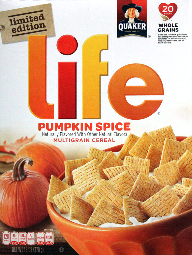 Pumpkin Spice Life Cereal Box (Front)