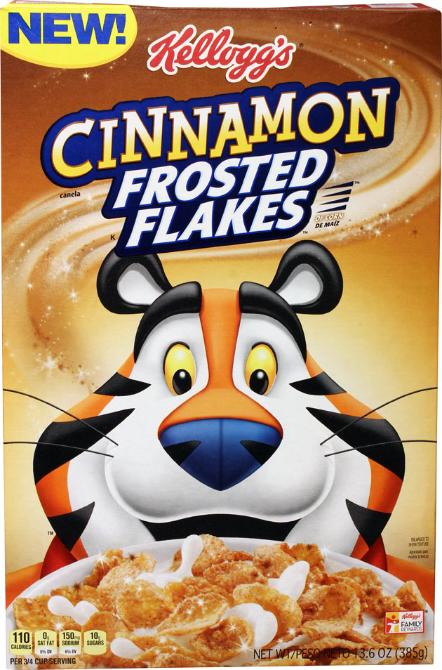 Cinnamon Frosted Flakes Cereal Box - Front