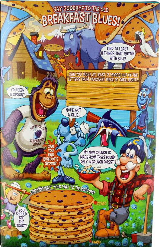 Blueberry Pancake Crunch Cereal Box - Back