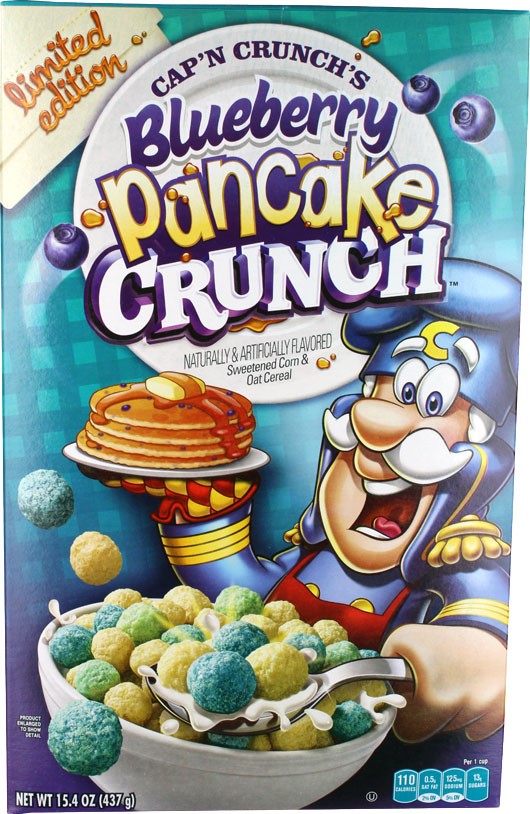 Blueberry Pancake Crunch Cereal Box - Front