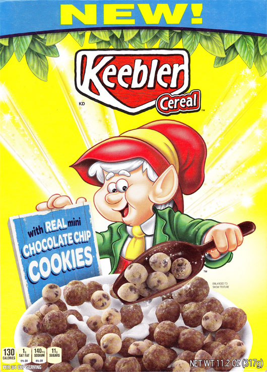 Keebler Cereal Box - Front
