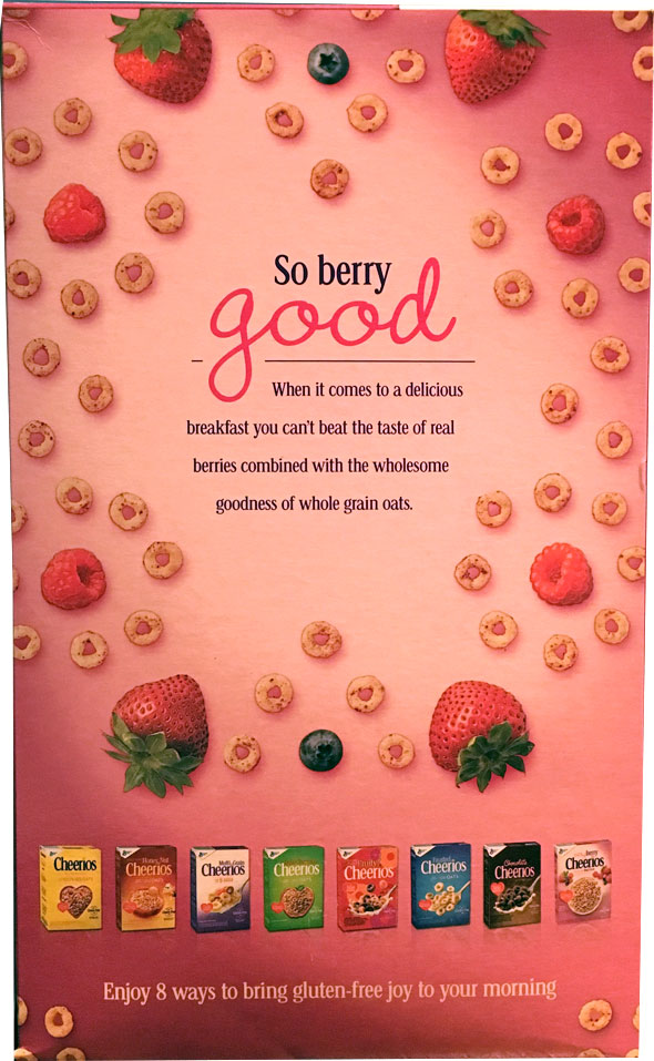 Very Berry Cheerios Cereal Box - Back