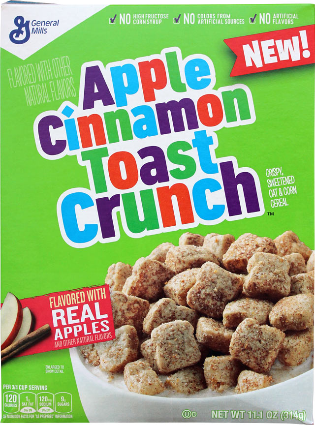 Apple Cinnamon Toast Crunch Cereal Box - Front