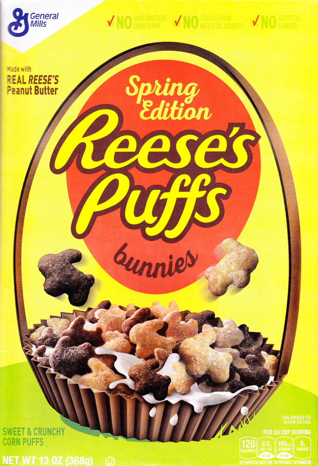 Reese's Puffs Bunnies Cereal Box - Front