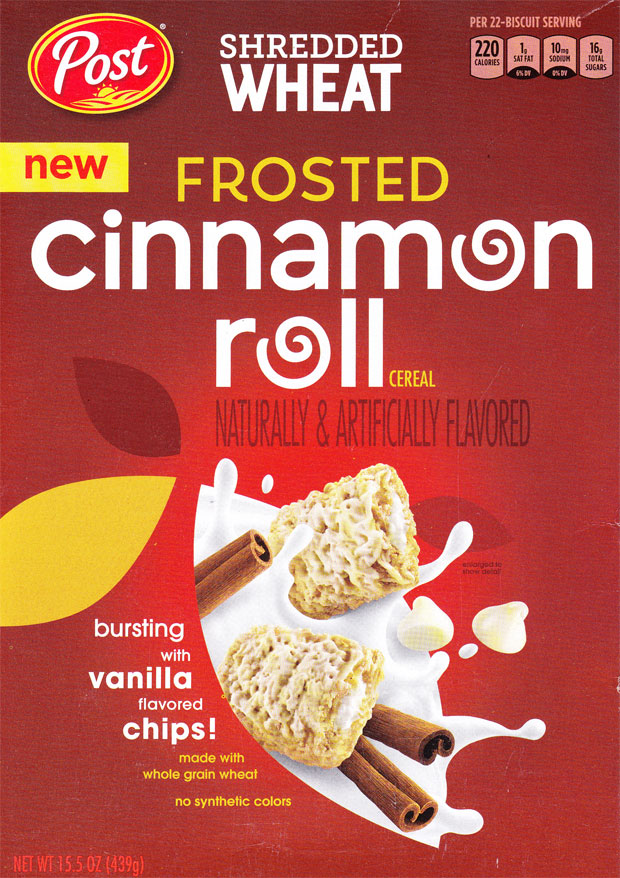 Cinnamon Roll Shredded Wheat Cereal Box - Front