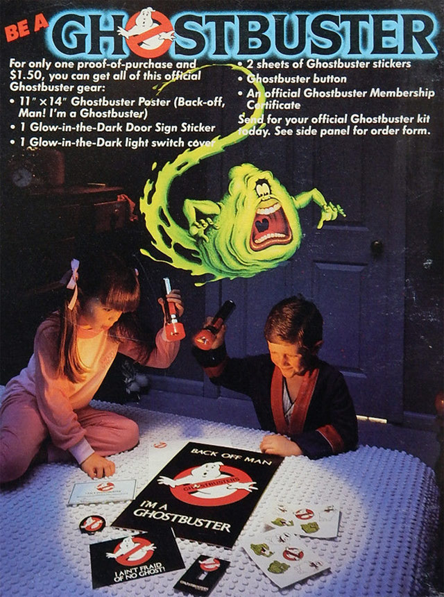 Ghostbusters Cereal Box (Back)