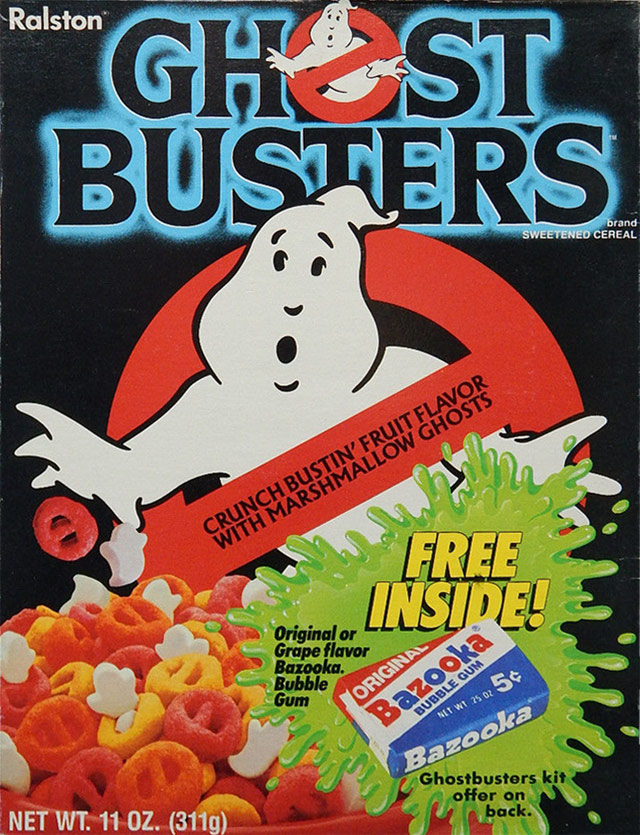 Ghostbusters Cereal Box (Front)