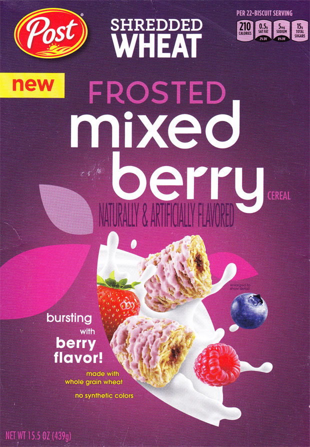 Mixed Berry Shredded Wheat Cereal Box - Front