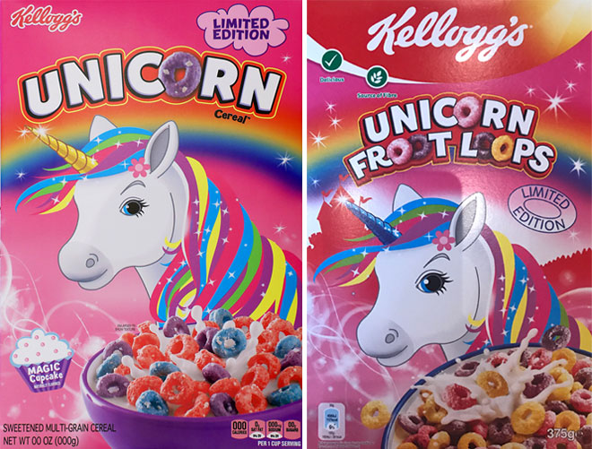 Unicorn Cereal And Unicorn Froot Loops