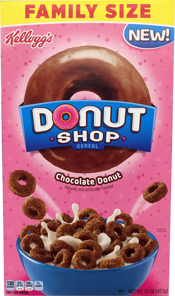 Donut Shop Chocolate Cereal Box