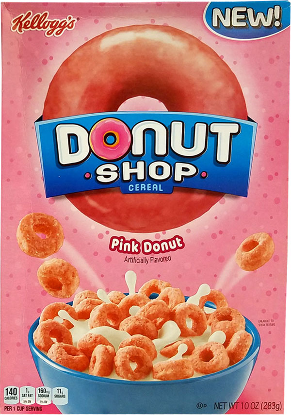 Donut Shop Pink Cereal Box