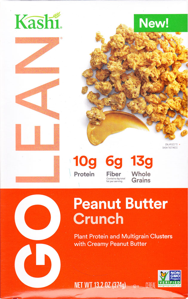 GOLEAN Peanut Butter Crunch Cereal Box