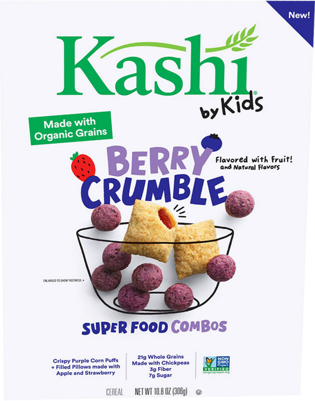 Kashi By Kids Berry Crumble Super Food Combos Cereal Box