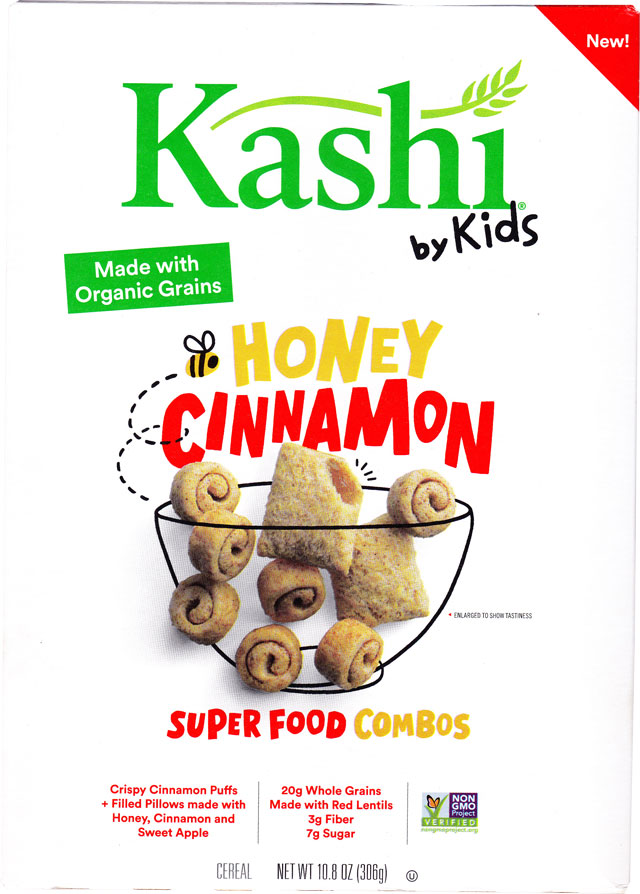 Kashi By Kids Honey Cinnamon Super Food Combos Cereal Box