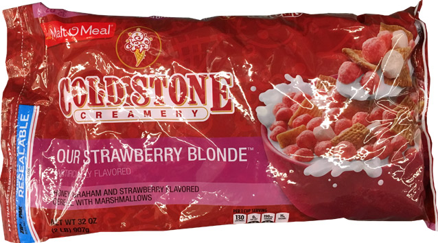 Cold Stone Creamery Our Strawberry Blonde Cereal Package